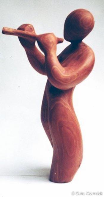 1979. Flute Player. Cedar.