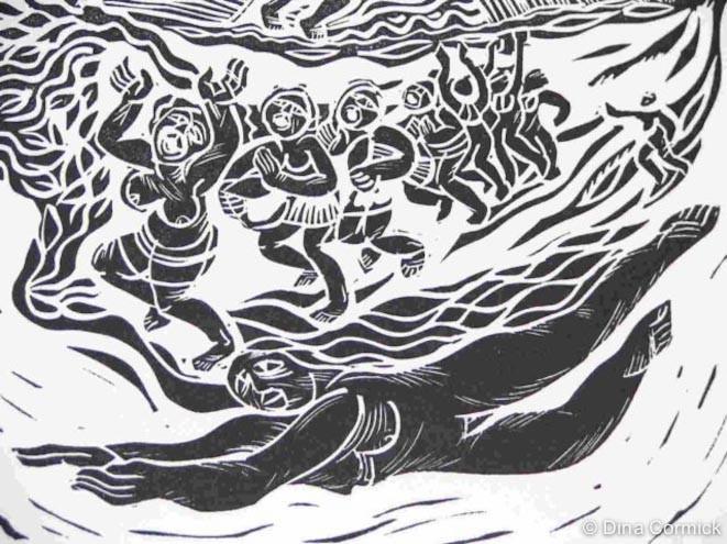 1998. Diirawic & Teeng. linocut [detail]