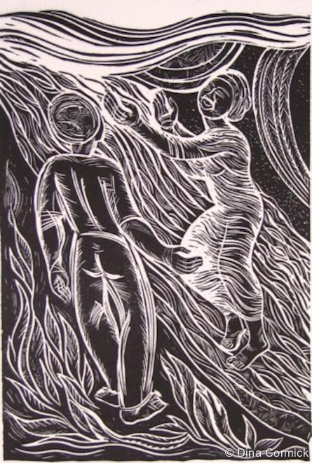 1999. Respect Oneself. woodcut 300x 200mm.